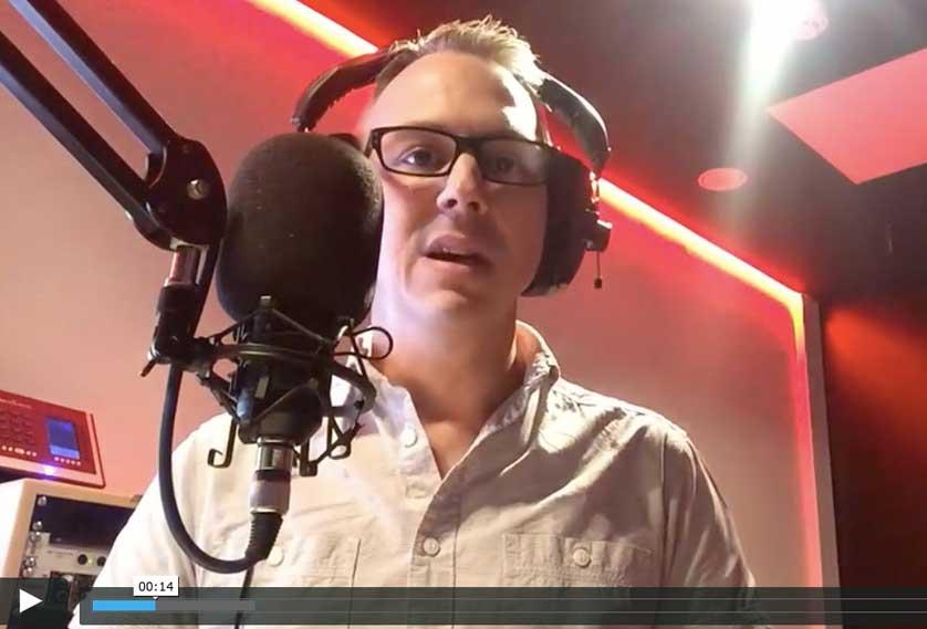 Paul Green in the recording studio