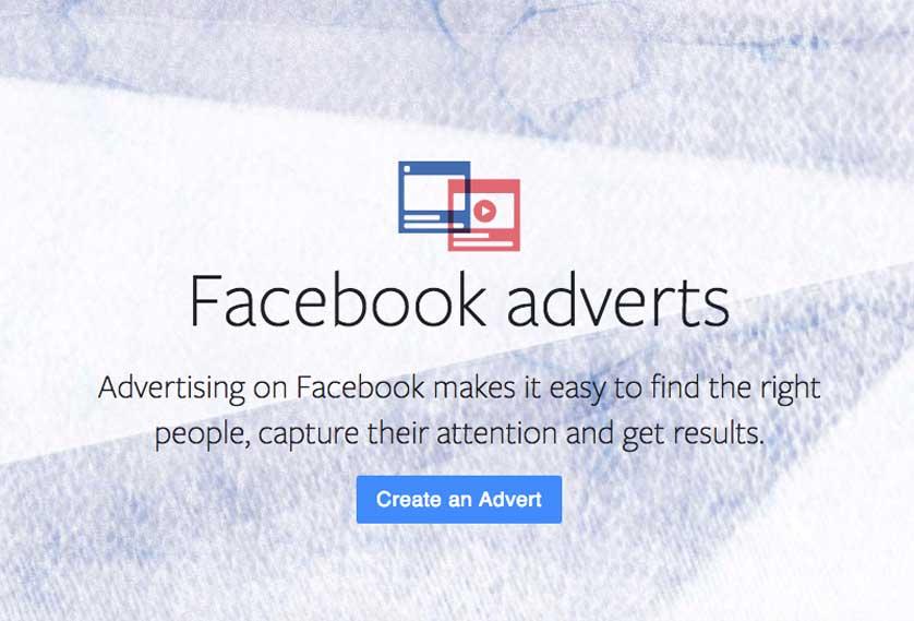 Facebook adverts