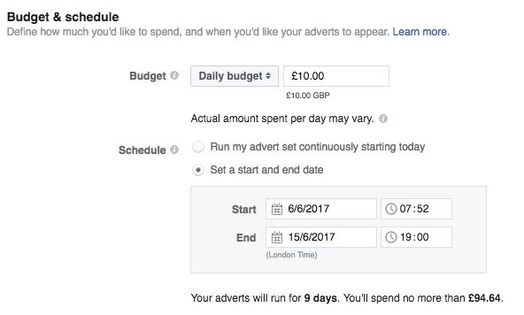 Facebook Ad Budget & Schedule   Paul Green's MSP Marketing