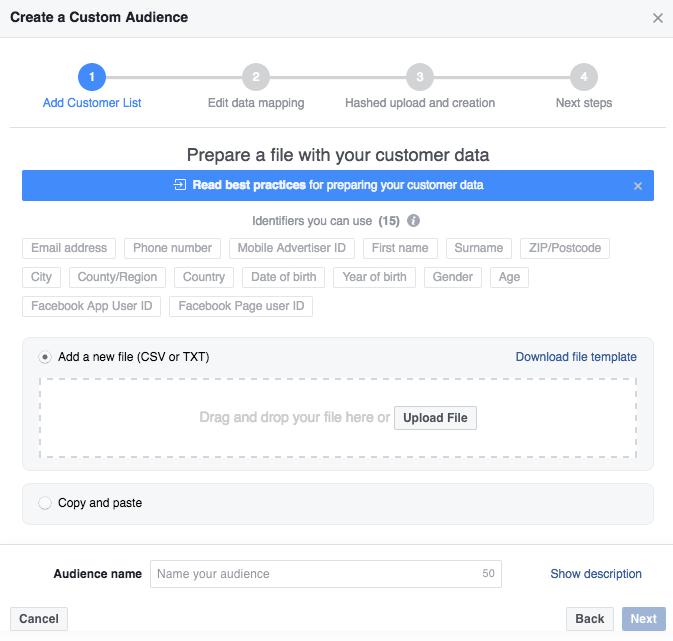 Facebook Ad Creating Custom Audiences   Paul Green's MSP Marketing