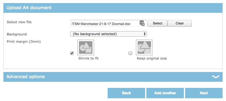 Uploading in DocMail