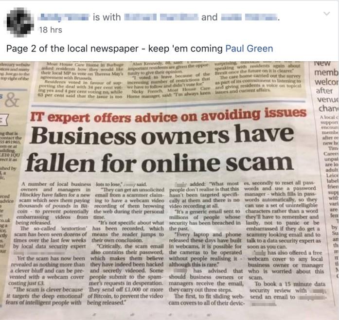 MSP Marketing Edge Newspaper Article