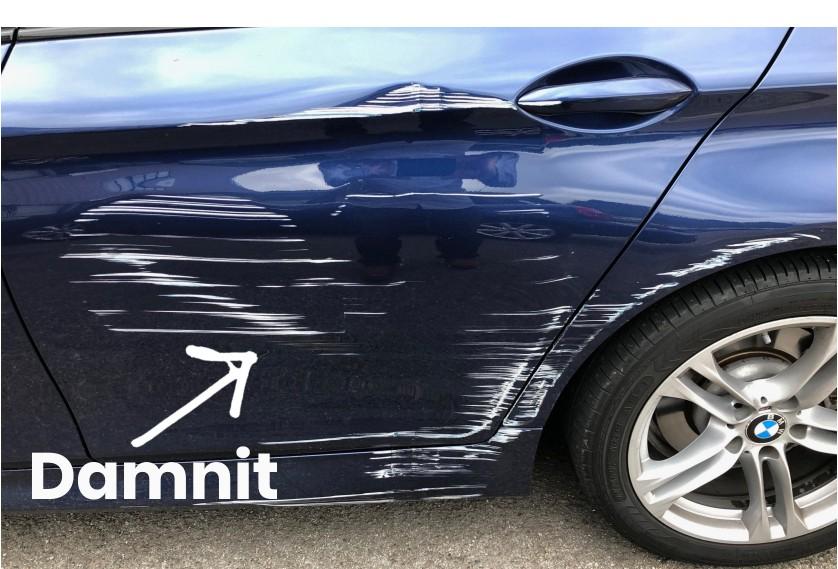 Crashed BMW