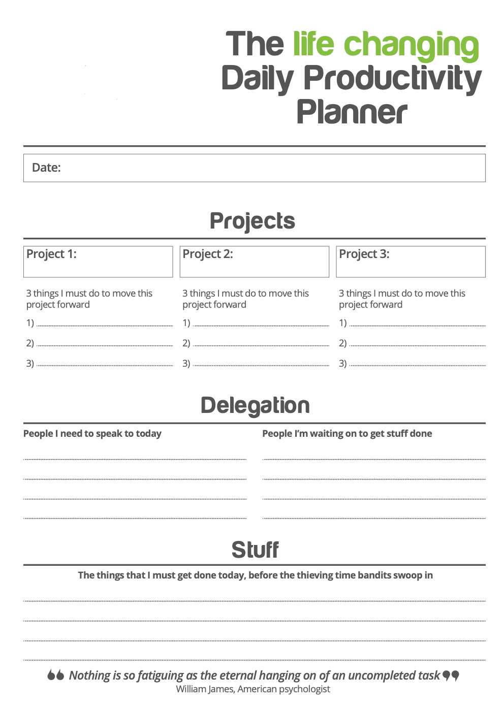 The Life Changing Daily Productivity Planner | Paul Green's MSP Marketing